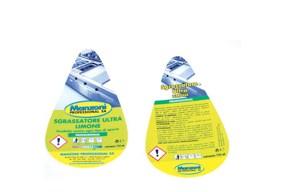 Etichette per prodotti chimici